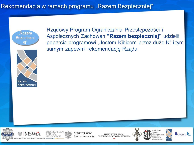 Rekomendacja w ramach programu Razem Bezpieczniej Rządowy Program Ograniczania Przestępczości i Aspołecznych Zachowań