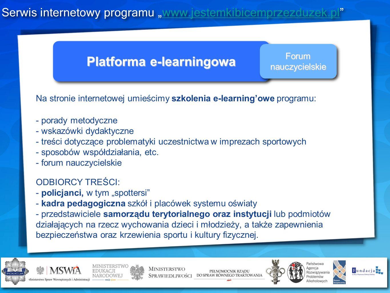 Na stronie internetowej umieścimy szkolenia e-learningowe programu: - porady metodyczne - wskazówki dydaktyczne - treści dotyczące problematyki uczest