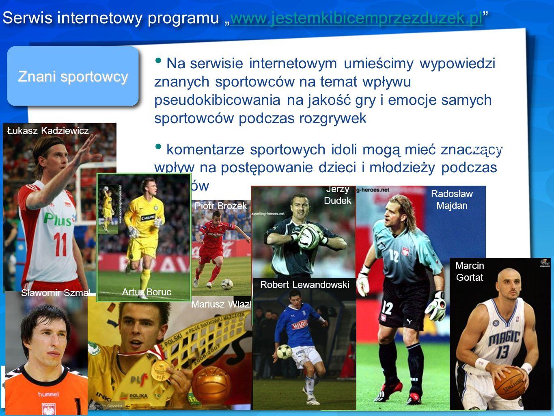 Znani sportowcy Na serwisie internetowym umieścimy wypowiedzi znanych sportowców na temat wpływu pseudokibicowania na jakość gry i emocje samych sport