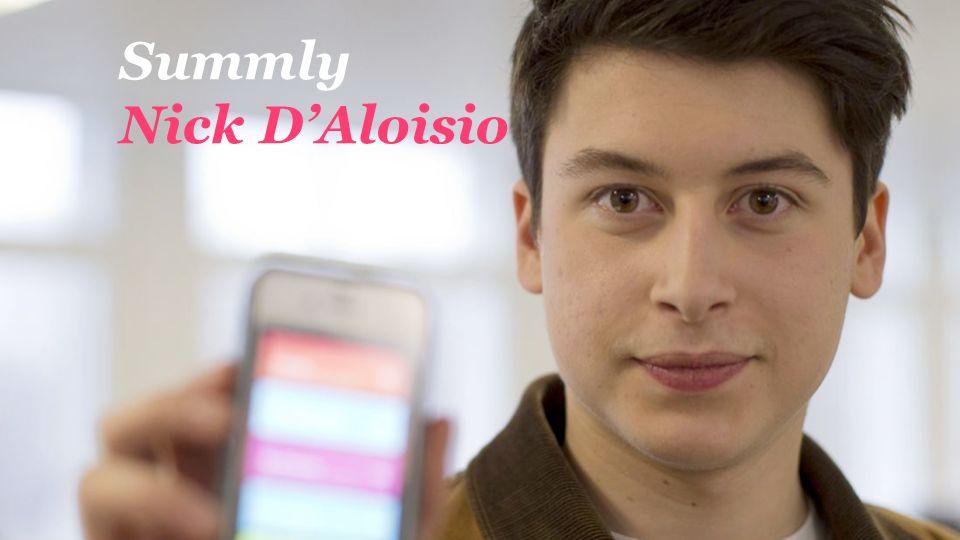 Summly Nick DAloisio