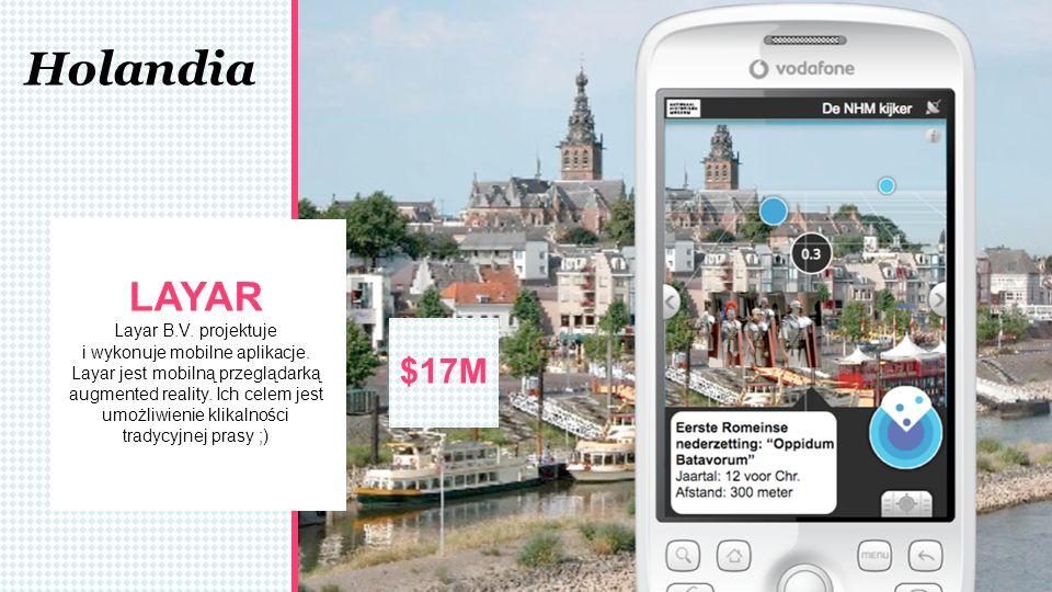 Holandia LAYAR Layar B.V. projektuje i wykonuje mobilne aplikacje. Layar jest mobilną przeglądarką augmented reality. Ich celem jest umożliwienie klik