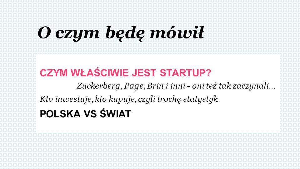 Zmiana działalności SUKCES/ KLAPA Co to jest startup?