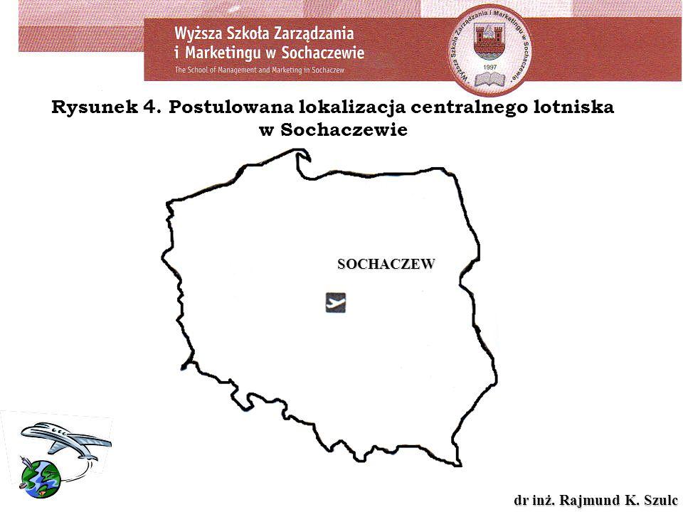 dr inż. Rajmund K. Szulc Rysunek 4. Postulowana lokalizacja centralnego lotniska w Sochaczewie SOCHACZEW