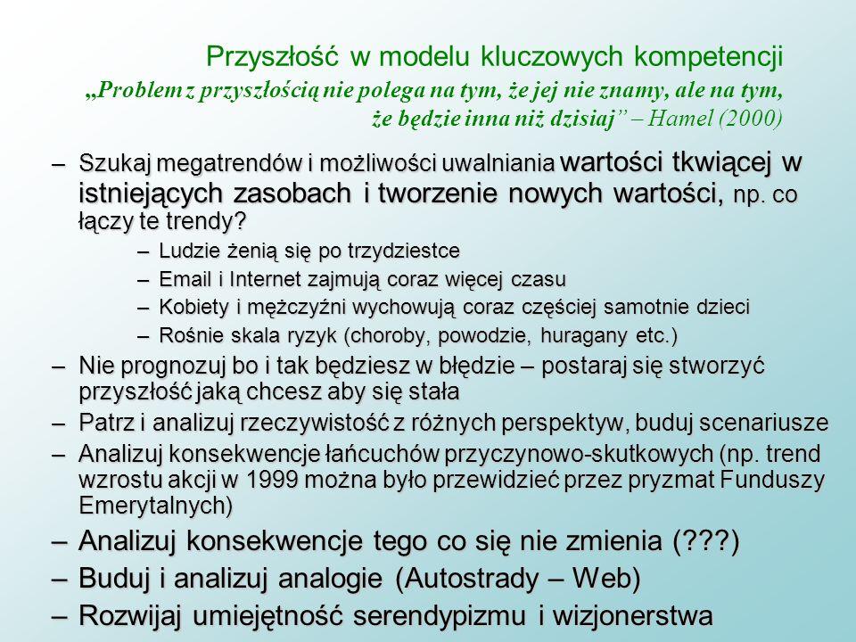 W poszukiwaniu źródeł innowacji Dylemat 2: czy trudna, polityczno-społeczna gazeta może być wielo-tematycznym czasopismem ogólnym i specjalistycznym j