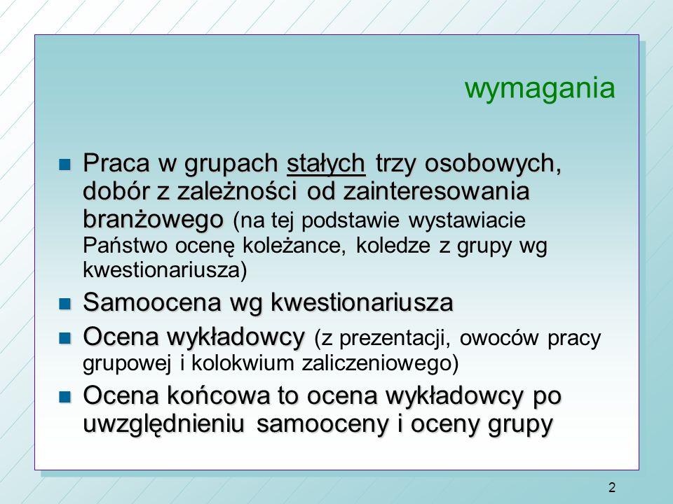 1 ZARZĄDZANIE STRATEGICZNE dr Aneta Nowakowska-Krystman n 60 godz. n Wykłady 20 godz. n Ćwiczenia 26 godz. n Seminaria 12 godz. (15 prezentacji) n Kol