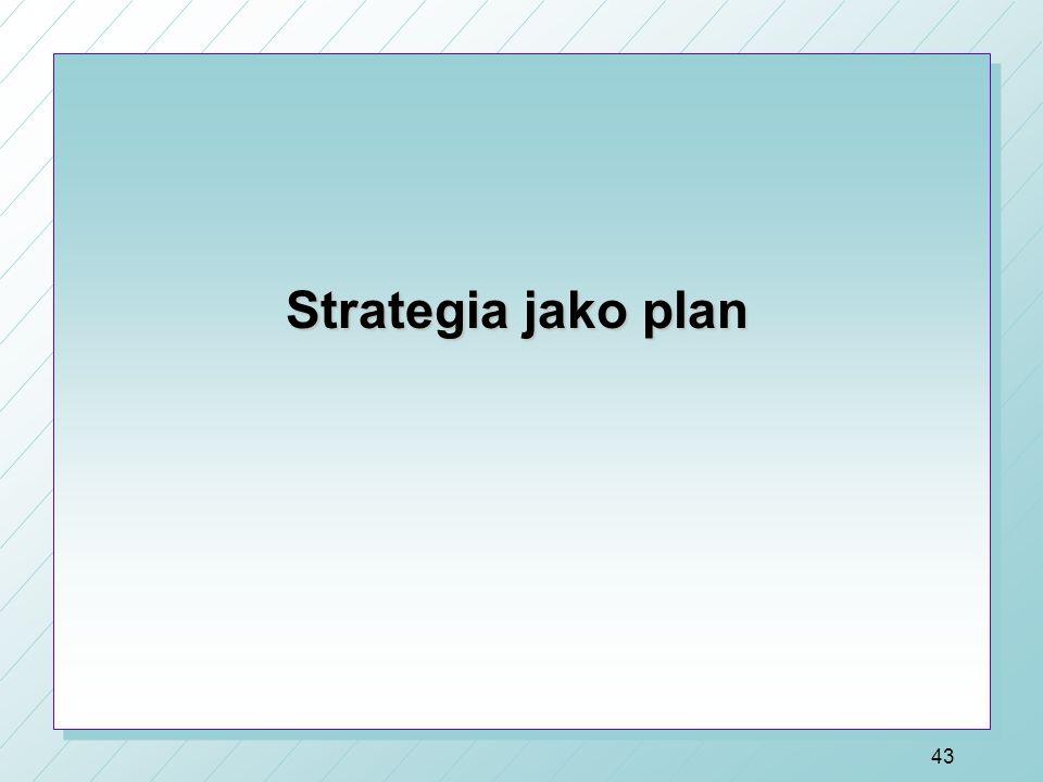 Strategia: główne teorie i modele 1) Strategia jako plan (szkoła tradycyjna) (Chandler, Ansoff, Andrews) – lata 60te 2) Strategia jako wzorzec (szkoła