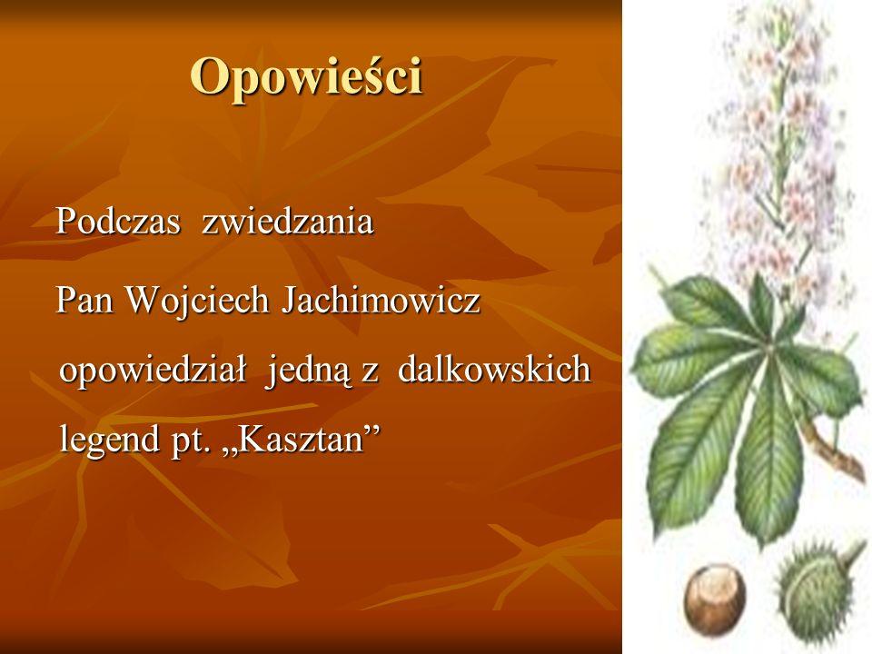 Opowieści Podczas zwiedzania Podczas zwiedzania Pan Wojciech Jachimowicz opowiedział jedną z dalkowskich legend pt. Kasztan Pan Wojciech Jachimowicz o