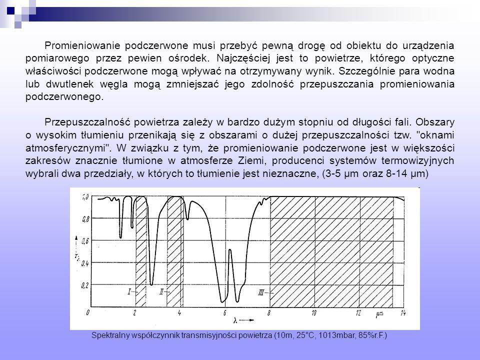 Promieniowanie podczerwone musi przebyć pewną drogę od obiektu do urządzenia pomiarowego przez pewien ośrodek. Najczęściej jest to powietrze, którego