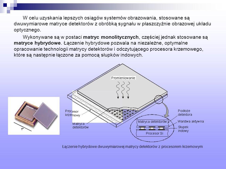 W celu uzyskania lepszych osiągów systemów obrazowania, stosowane są dwuwymiarowe matryce detektorów z obróbką sygnału w płaszczyźnie obrazowej układu