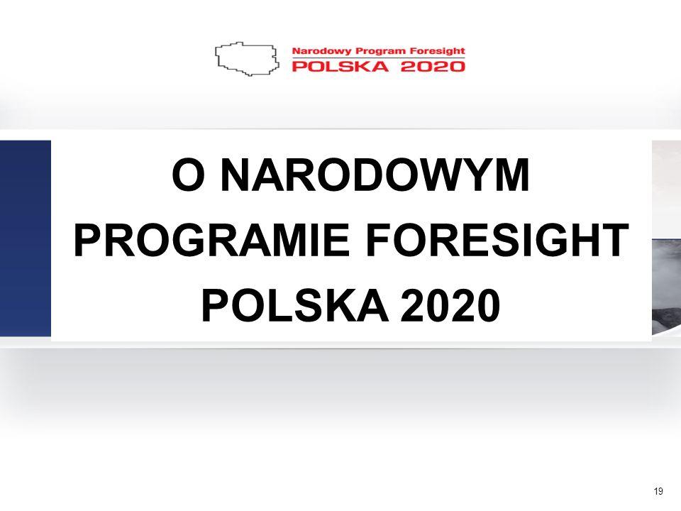 19 O NARODOWYM PROGRAMIE FORESIGHT POLSKA 2020