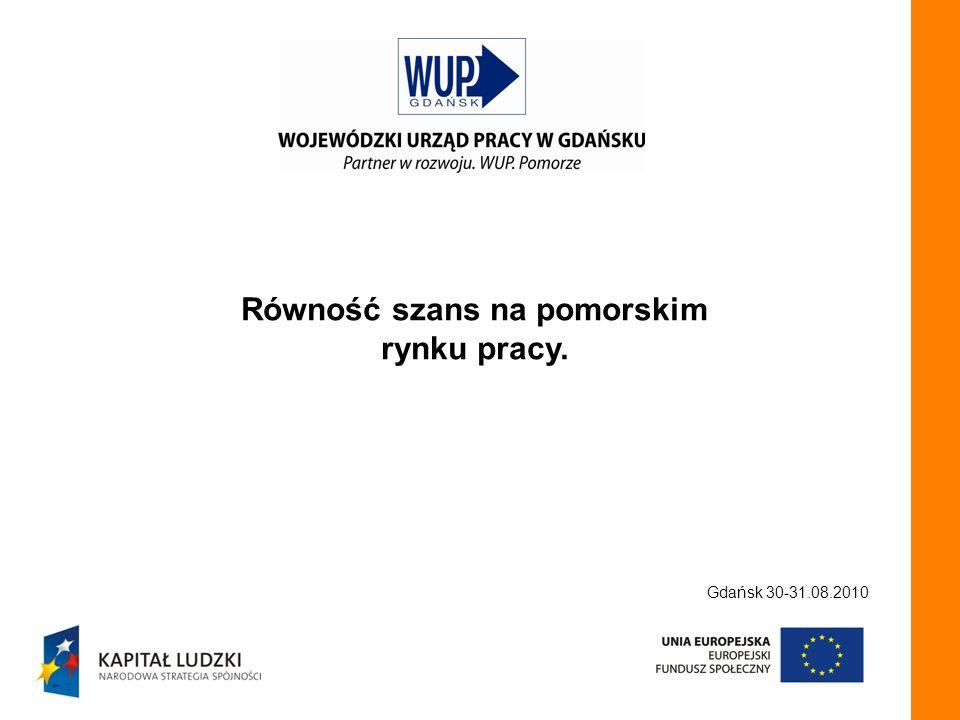 Równość szans na pomorskim rynku pracy. Gdańsk 30-31.08.2010