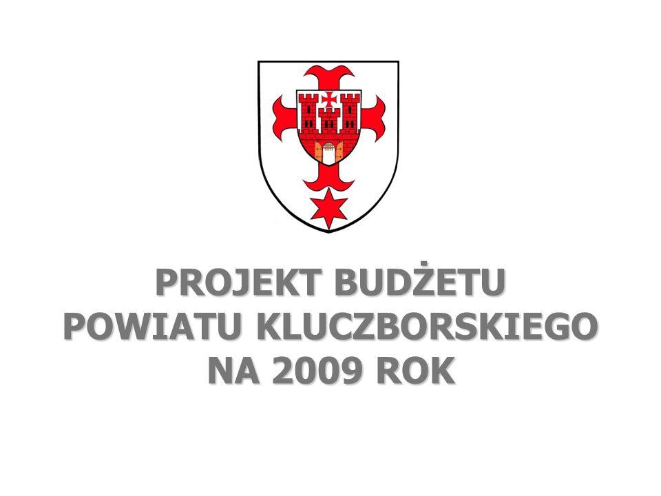 www.powiatkluczborski.pl Szanowni Państwo oto kilka najważniejszych informacji w liczbach i na wykresach o projekcie budżetu powiatu kluczborskiego na 2009 rok