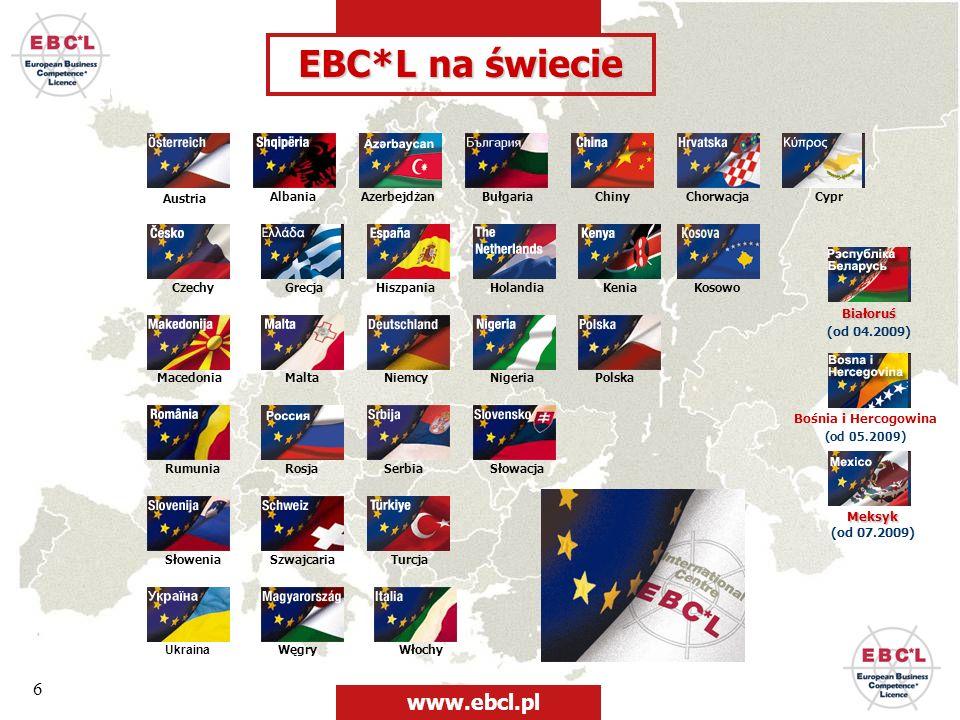 6 EBC*L na świecie Austria AlbaniaAzerbejdżanBułgariaChiny CzechyHiszpania Niemcy Chorwacja Włochy KeniaKosowo MaltaMacedonia Węgry Holandia NigeriaPo