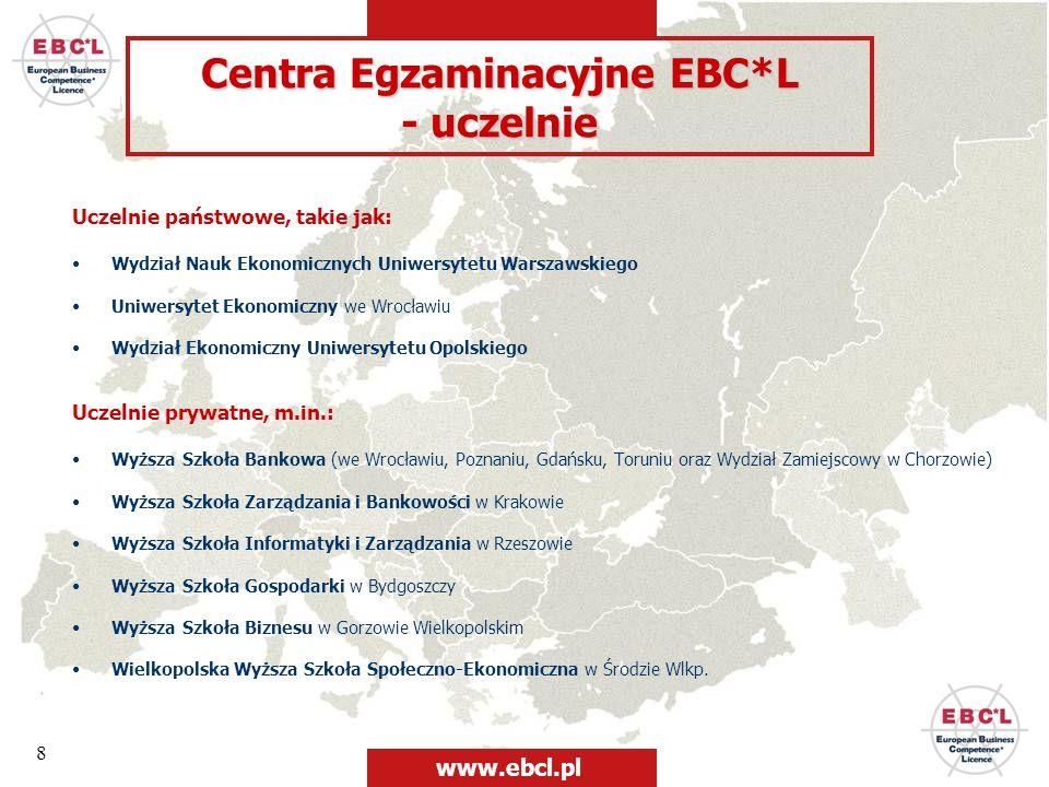 8 Uczelnie państwowe, takie jak: Wydział Nauk Ekonomicznych Uniwersytetu Warszawskiego Uniwersytet Ekonomiczny we Wrocławiu Wydział Ekonomiczny Uniwer