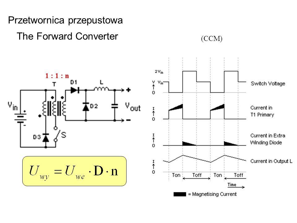 Przetwornica przepustowa The Forward Converter 1 : 1 : n (CCM)