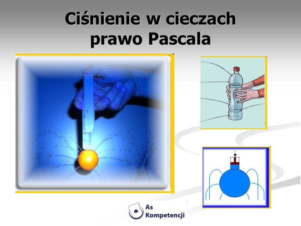 Ciśnienie w cieczach prawo Pascala