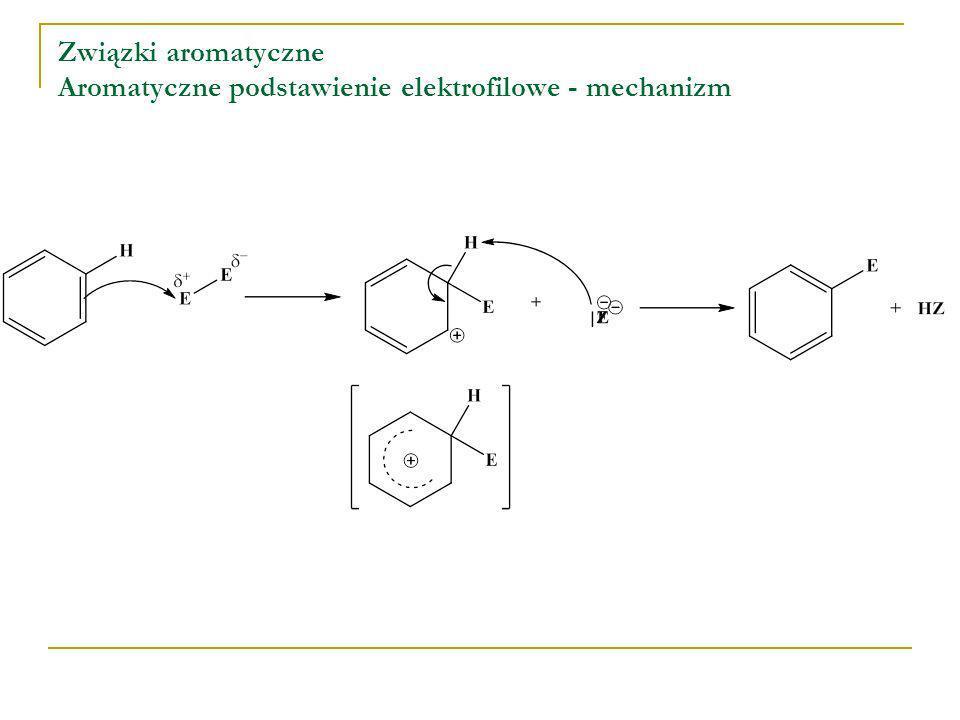 Związki aromatyczne Aromatyczne podstawienie elektrofilowe - mechanizm
