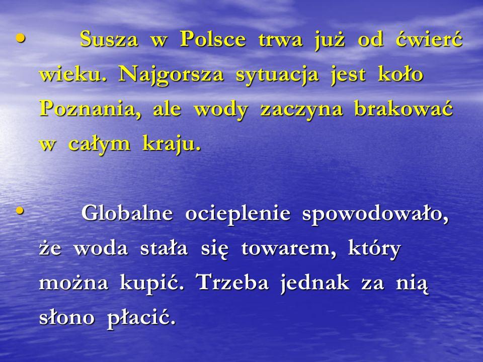 Susza w Polsce trwa już od ćwierć Susza w Polsce trwa już od ćwierć wieku. Najgorsza sytuacja jest koło wieku. Najgorsza sytuacja jest koło Poznania,