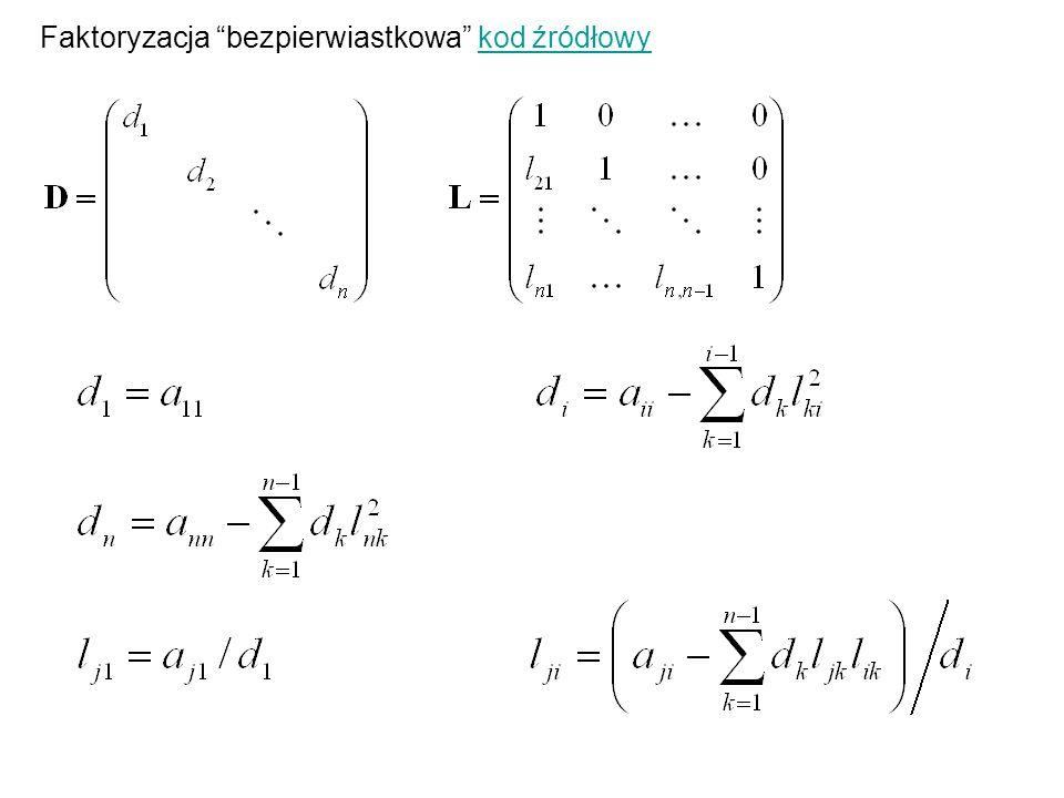 Regresja nieliniowa f jest funkcją nieliniową względem parametrów p 1, p 2,…, p m.