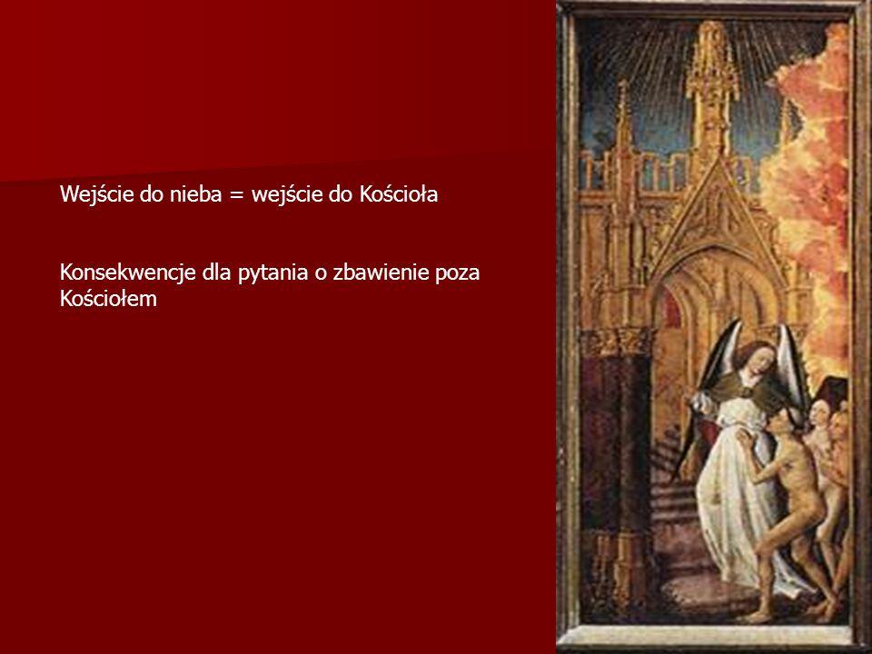 Wejście do nieba = wejście do Kościoła Konsekwencje dla pytania o zbawienie poza Kościołem