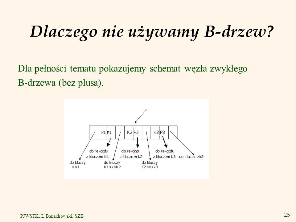 Podsumowanie drzew v Zastosowanie indeksów o strukturze drzewa: –Wyszukiwanie zakresowe.