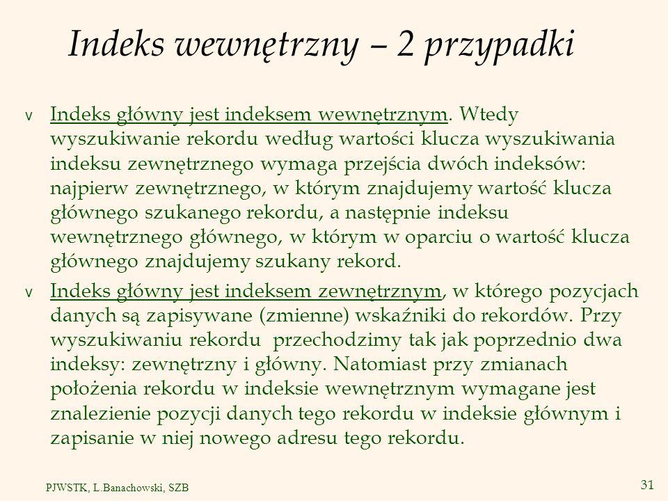 32 PJWSTK, L.Banachowski, SZB Struktury danych wielowymiarowe Siatka (ang.