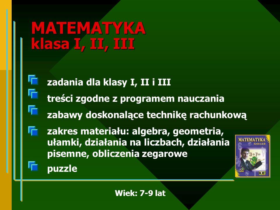 MATEMATYKA klasa I, II, III
