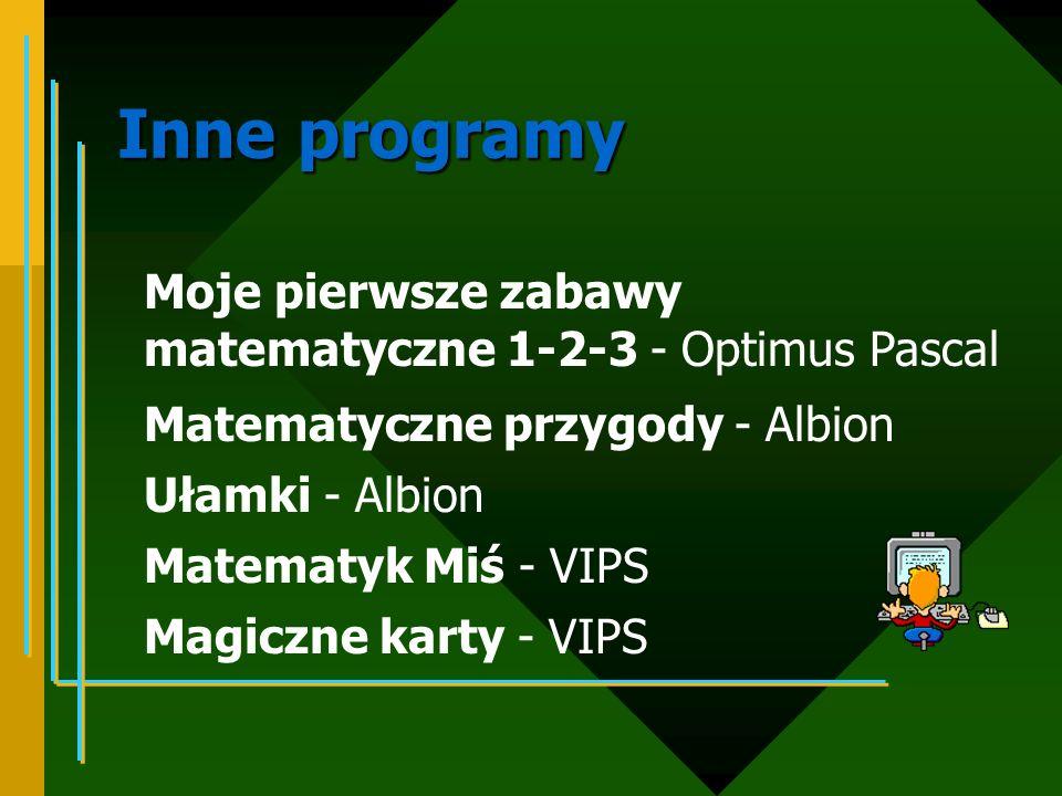 Dobór programów edukacyjnych realizowana tematyka wiek dziecka umiejętności dziecka w zakresie obsługi komputera walory edukacyjne i estetyczne programu