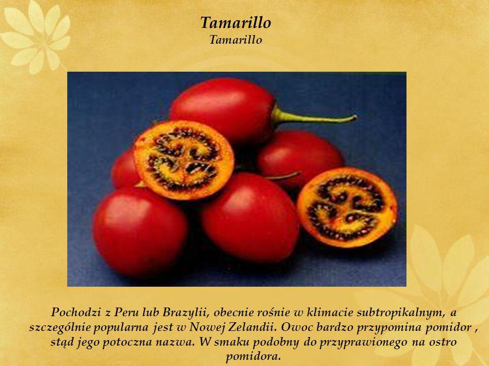 Pochodzi z Peru lub Brazylii, obecnie rośnie w klimacie subtropikalnym, a szczególnie popularna jest w Nowej Zelandii.