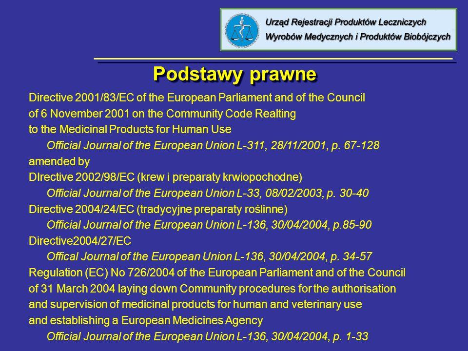 Podstawy prawne W Polsce wymagania dotyczące elektronicznego raportowania nie zostały wprowadzone do Ustawy Prawo Farmaceutyczne, ale planowane jest wydanie rozporządzenie Ministra Zdrowia obejmującego te zagadnienia