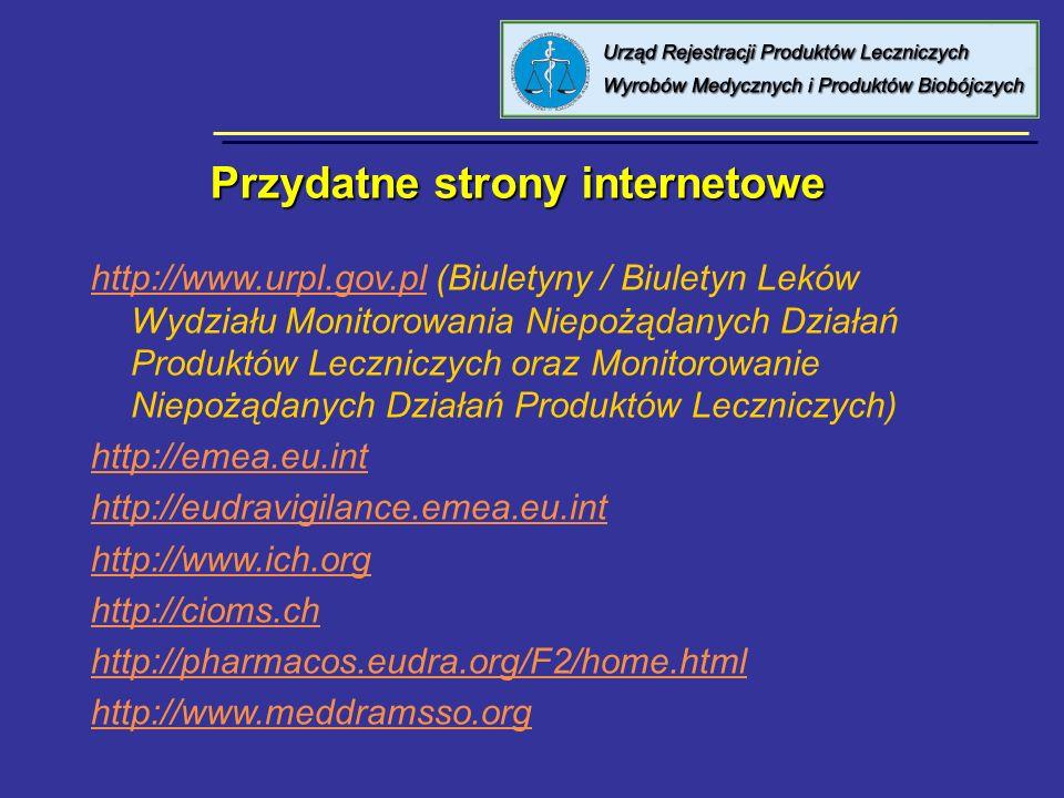 8 kwietnia 2005 Urząd Rejestracji PL, WM i PB Przydatne strony internetowe Przydatne strony internetowe http://www.urpl.gov.plhttp://www.urpl.gov.pl (