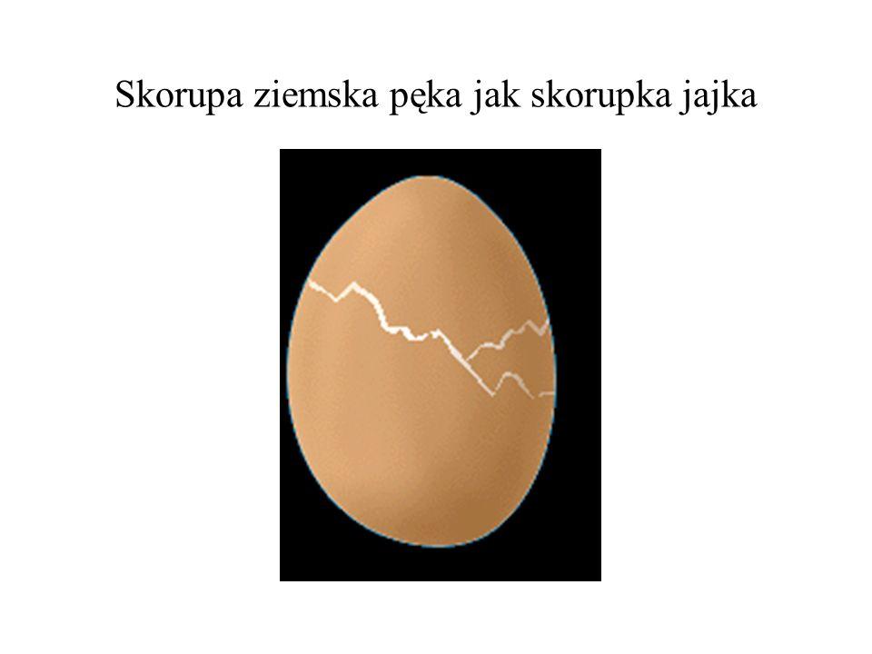 Skorupa ziemska pęka jak skorupka jajka