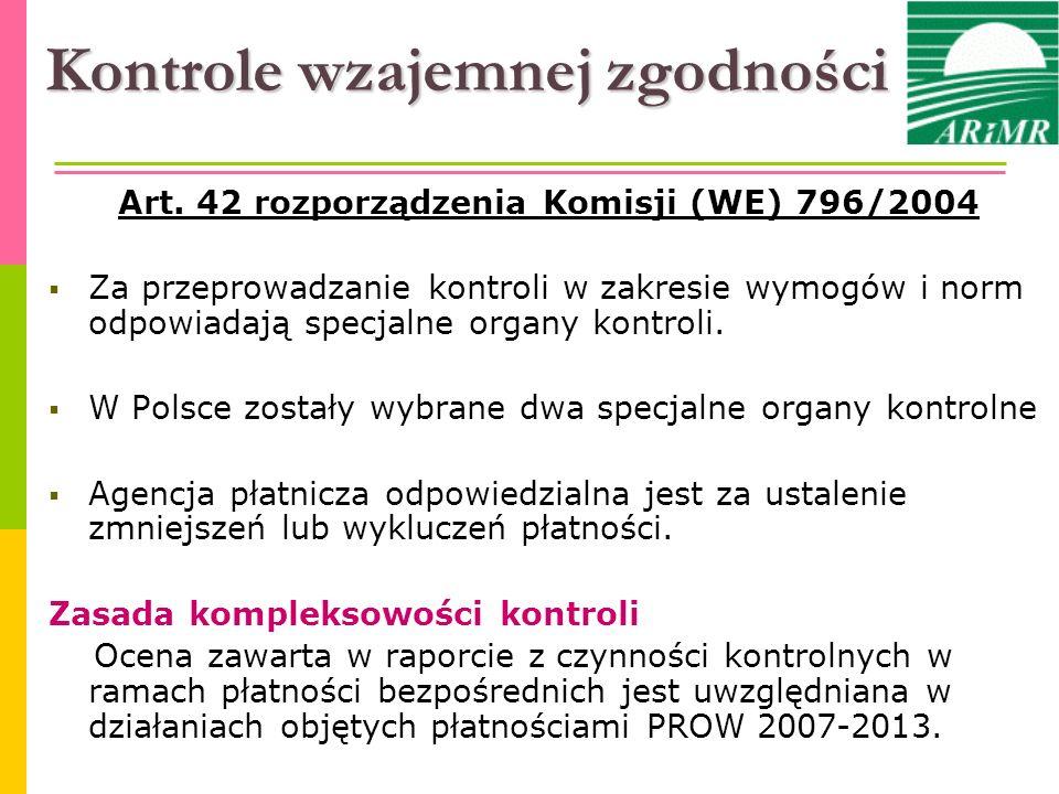Właściwe władze kontrolne Zgodnie z ustawą o płatnościach w ramach systemów wsparcia bezpośredniego (art.