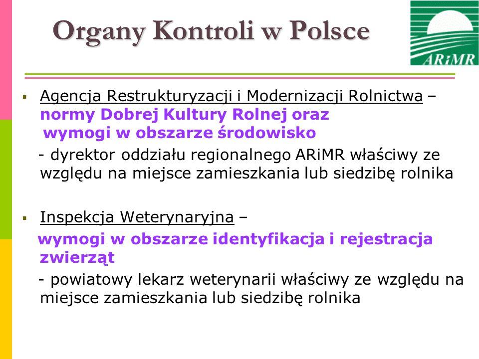 Organy Kontroli w Polsce Agencja Restrukturyzacji i Modernizacji Rolnictwa – normy Dobrej Kultury Rolnej oraz wymogi w obszarze środowisko - dyrektor