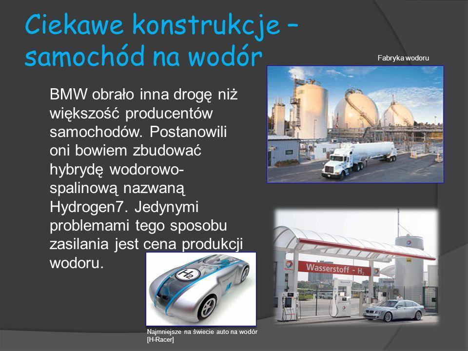 Ciekawe konstrukcje – samochód na wodór BMW obrało inna drogę niż większość producentów samochodów. Postanowili oni bowiem zbudować hybrydę wodorowo-