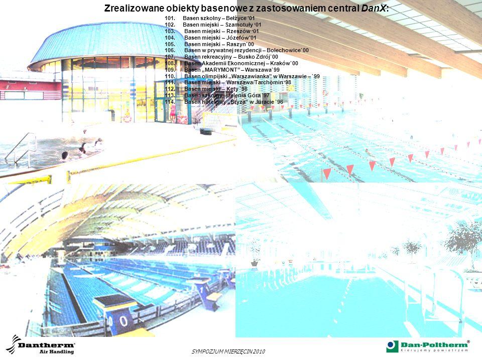 Zrealizowane obiekty basenowe z zastosowaniem central DanX: SYMPOZJUM MIERZĘCIN 2010 101.Basen szkolny – Bełżyce 01 102.Basen miejski – Szamotuły 01 1