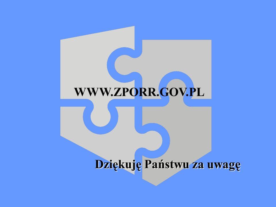 Dziękuję Państwu za uwagę WWW.ZPORR.GOV.PL