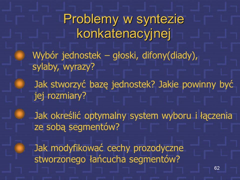 61 Schemat systemu syntezy konkatenacyjnej