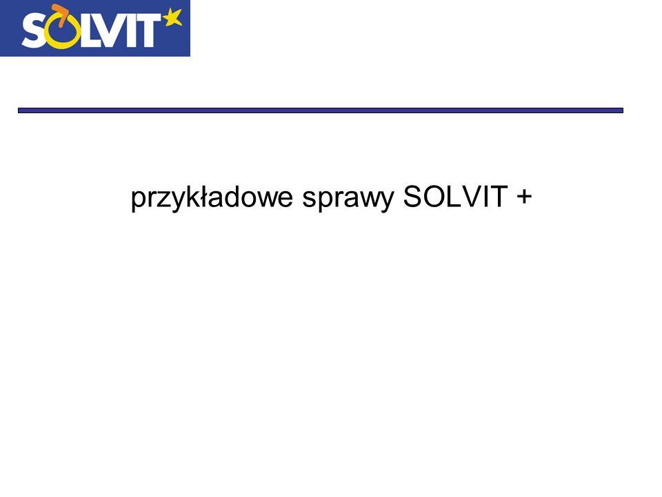 przykładowe sprawy SOLVIT +