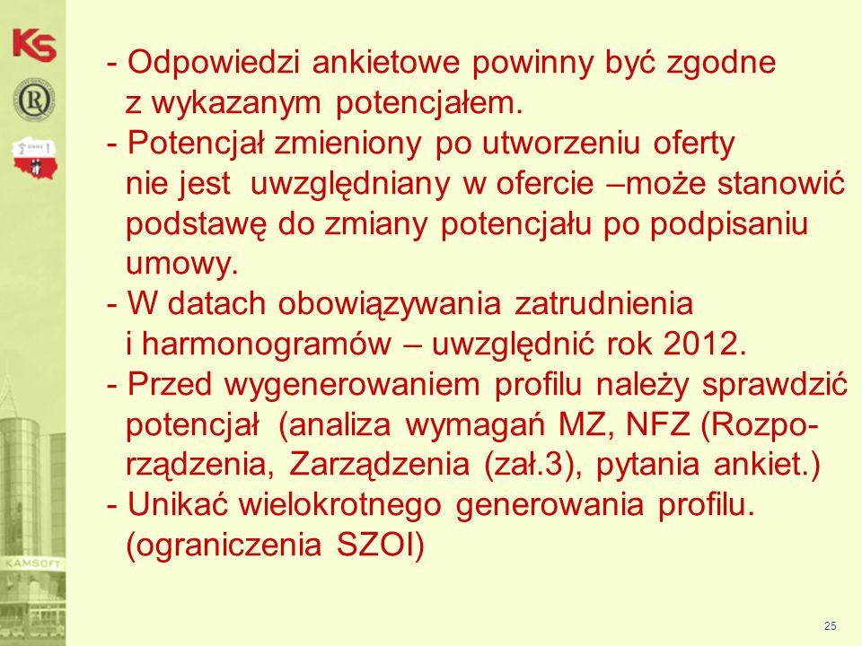 26 Aplikacja Ofertowa NFZ-KO Moduł do elektronicznej wymiany danych pomiędzy świadczeniodawcami a Narodowym Funduszem Zdrowia w zakresie obsługi konkursu ofert.