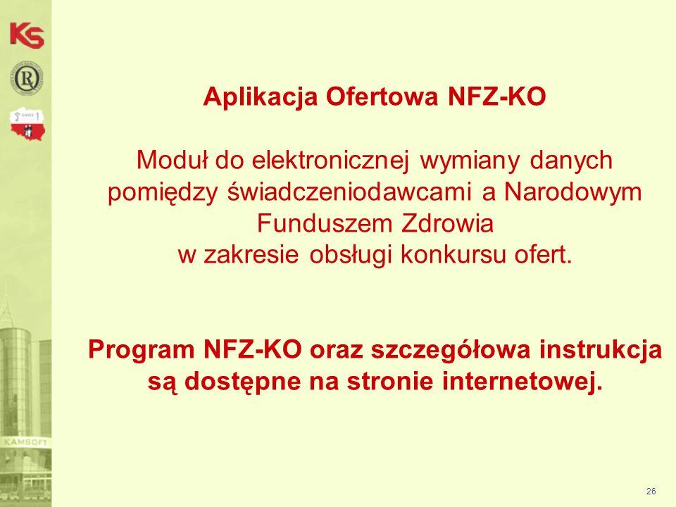 27 Po ściągnięciu i zapisaniu na swoim komputerze pliku: Instalacja_NFZ-KO_2011.6.1.0 exe klikamy myszką na tym pliku i uruchamiamy kreator Instalacji NFZ-KO:
