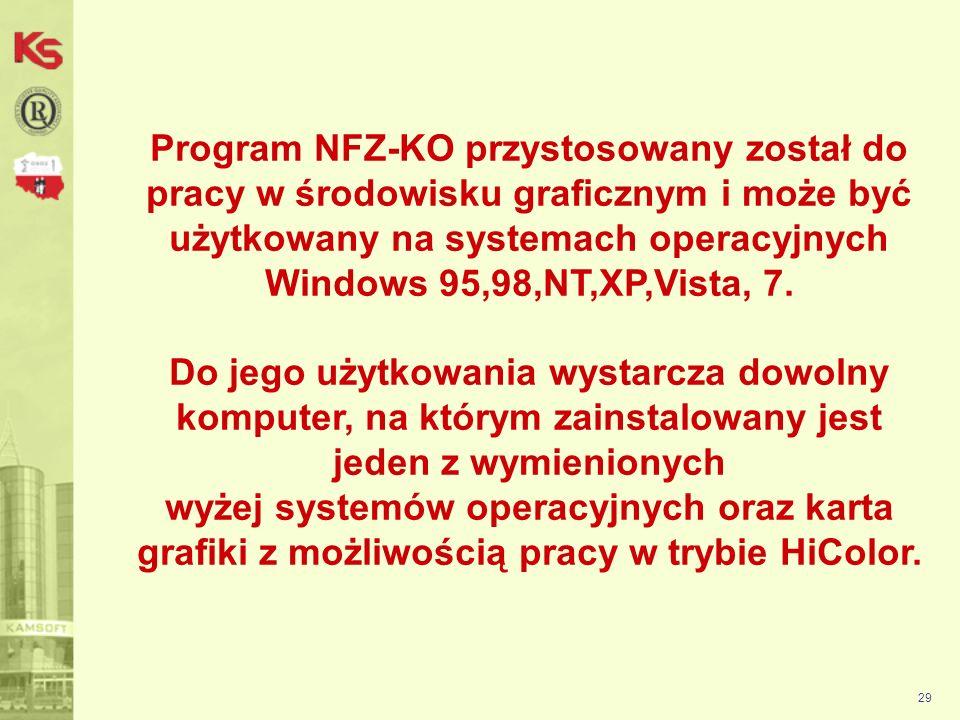 Podczas pierwszego uruchomienia wpisujemy hasło: a 30 Po uruchomieniu programu należy się zalogować.