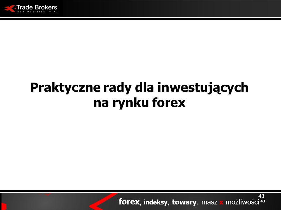 43 forex, indeksy, towary. masz x możliwości 43 Praktyczne rady dla inwestujących na rynku forex