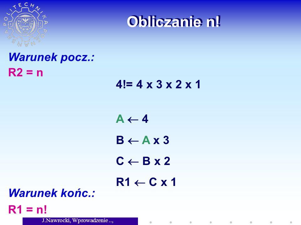 J.Nawrocki, Wprowadzenie.., Wykład 2 Problem stopu Dany jest podprogram X.