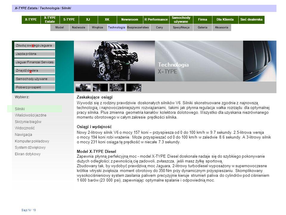 Slajd Nr 19 Zaskakujące osiągi Wywodzi się z rodziny prawdziwie doskonałych silników V6. Silniki skonstruowane zgodnie z najnowszą technologią, i najn