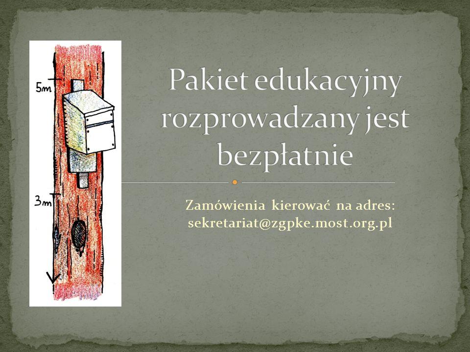 Zamówienia kierować na adres: sekretariat@zgpke.most.org.pl
