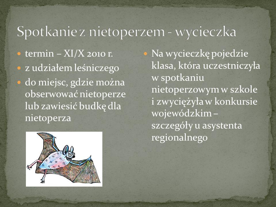 termin – XI/X 2010 r.
