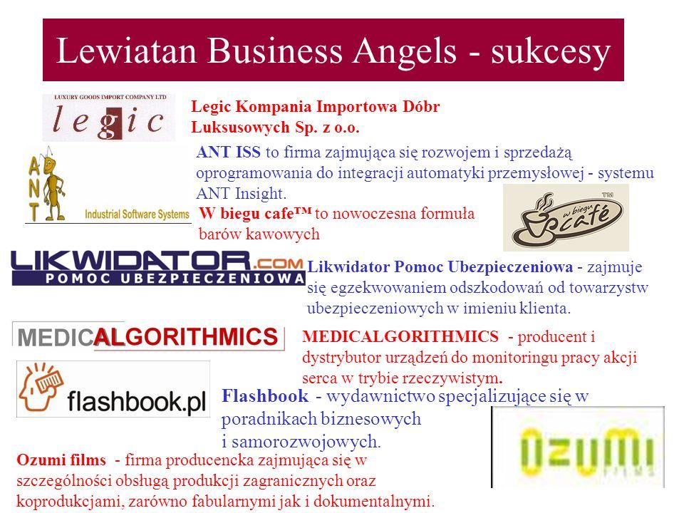 Lewiatan Business Angels - sukcesy Legic Kompania Importowa Dóbr Luksusowych Sp. z o.o. ANT ISS to firma zajmująca się rozwojem i sprzedażą oprogramow