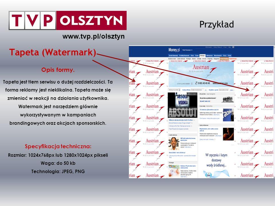 www.tvp.pl/olsztyn Przykład In-Stream VideoAd 30 Opis formy.