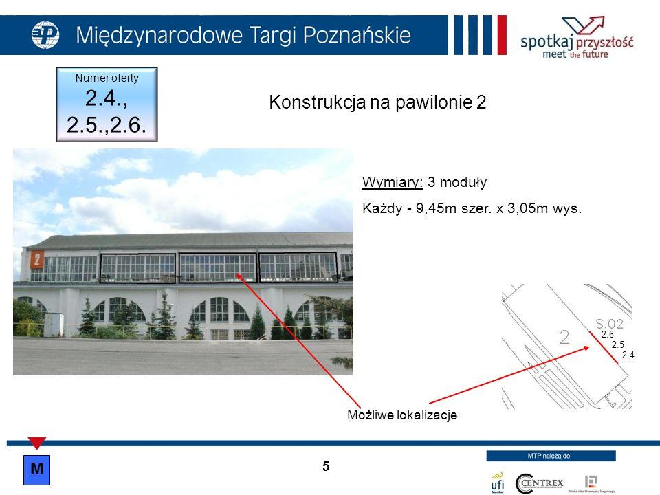 Konstrukcja na pawilonie 3 bok, ul.Roosevelta/ Głogowskiej Numer oferty 3.9.